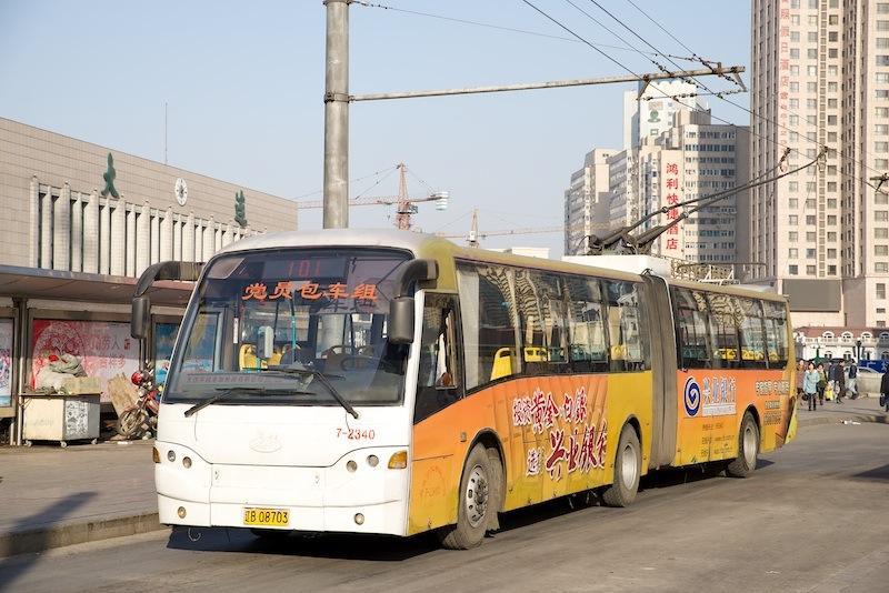 140102 大連101路トロリーバス