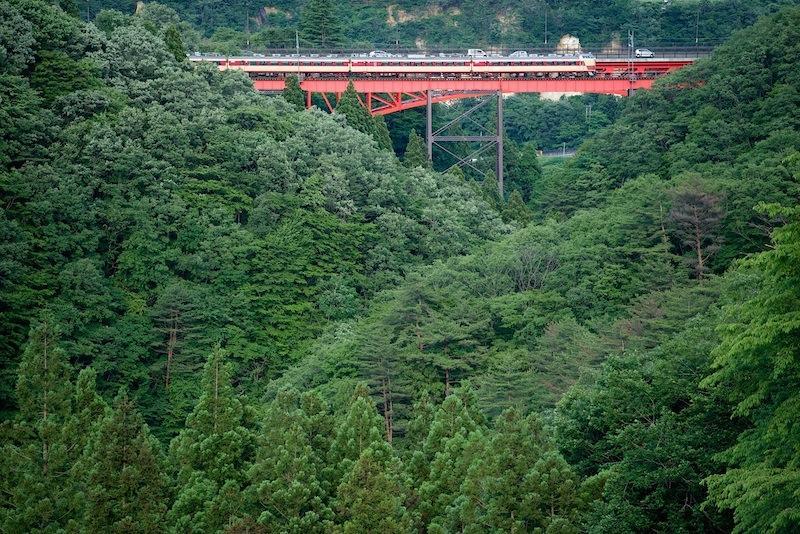 140614 西側から見た熊ヶ根鉄橋