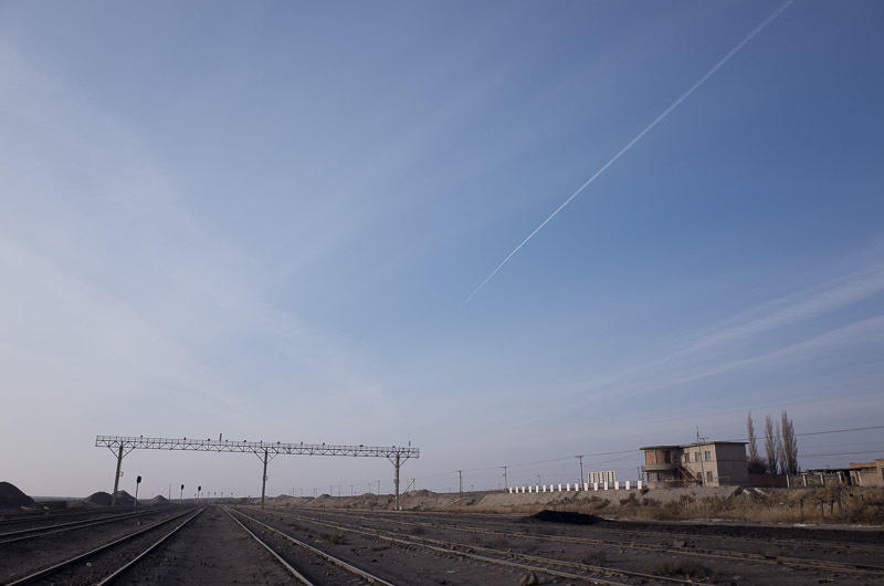 141229 三道嶺・旧西駅駅舎と線路