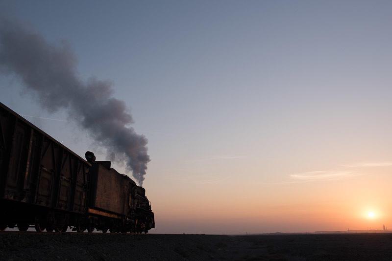 141228 夕日に向かう蒸機
