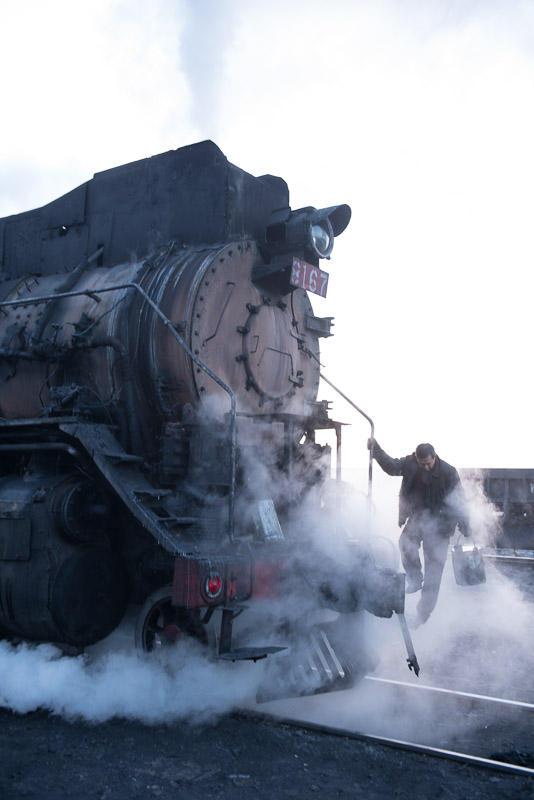 151229 出発前の建設型蒸機