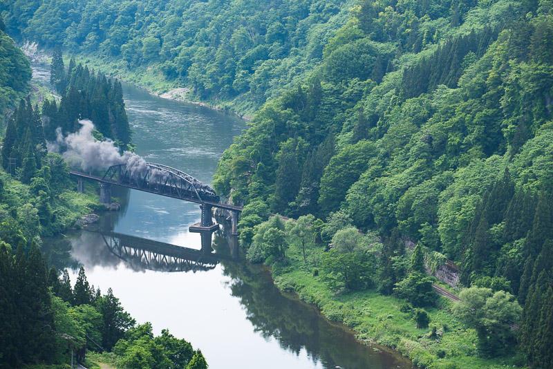 160524 第四只見川橋梁上りSL俯瞰