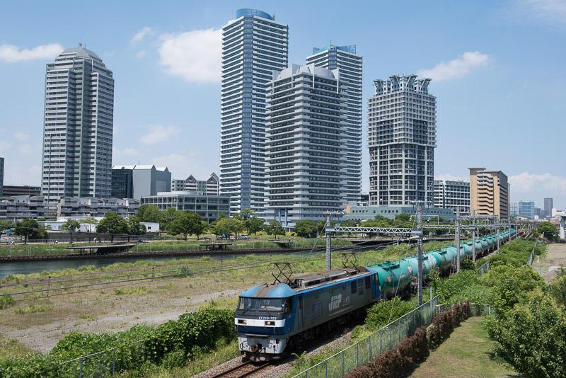 160610 ポートサイドと3090列車