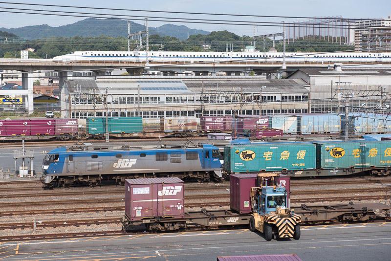 161015 広島貨物ターミナルと新幹線