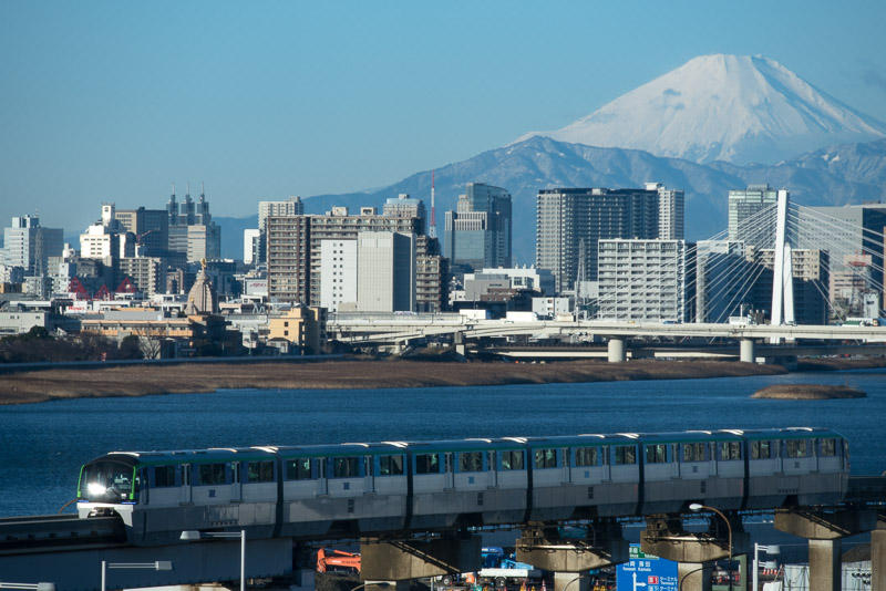 161228 富士山と東京モノレール