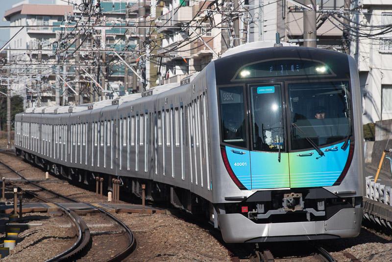 170204 妙蓮寺〜白楽を走る西武40000系試運転列車