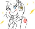 [ダイアリー][VOCALOID]鏡音リン・レン千枚筆ならし