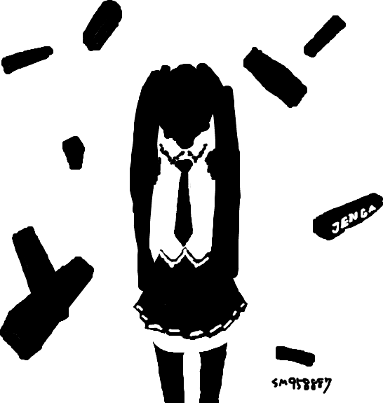 初音ミク千枚筆ならし(ジェンガ / sm958887)