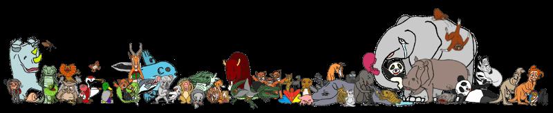 世にゆかいな小ジャレた動物たち