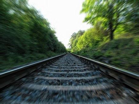 レール, 鉄道, 鉄道線路, 列車のトラック, トラック, 移動