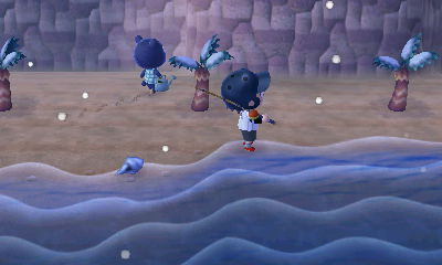 雷の日 魚 とび森