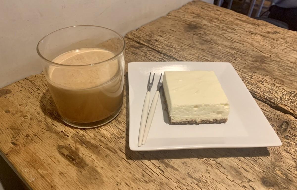 レアチーズケーキ カフェラテ