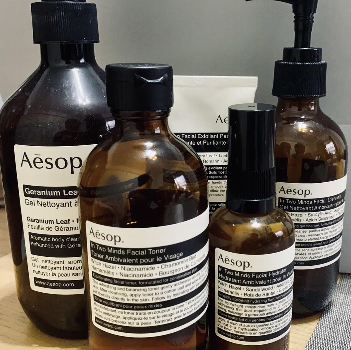 aesop 洗顔フォーム 化粧水 乳液 クレンジング ボディーソープ