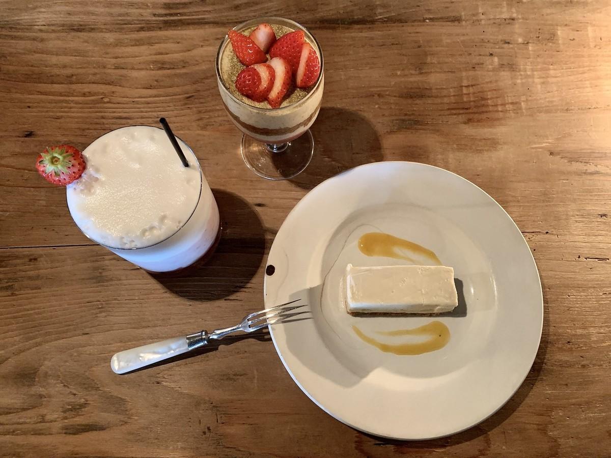 レアチーズケーキ イチゴミルク ティラミス