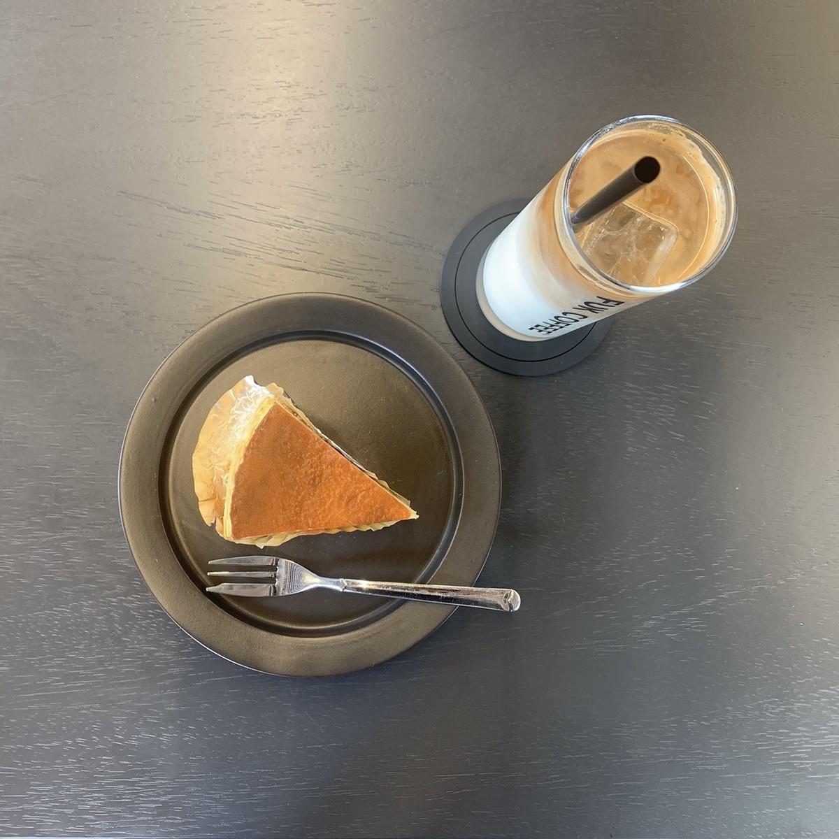 チーズケーキ アイスカフェラテ