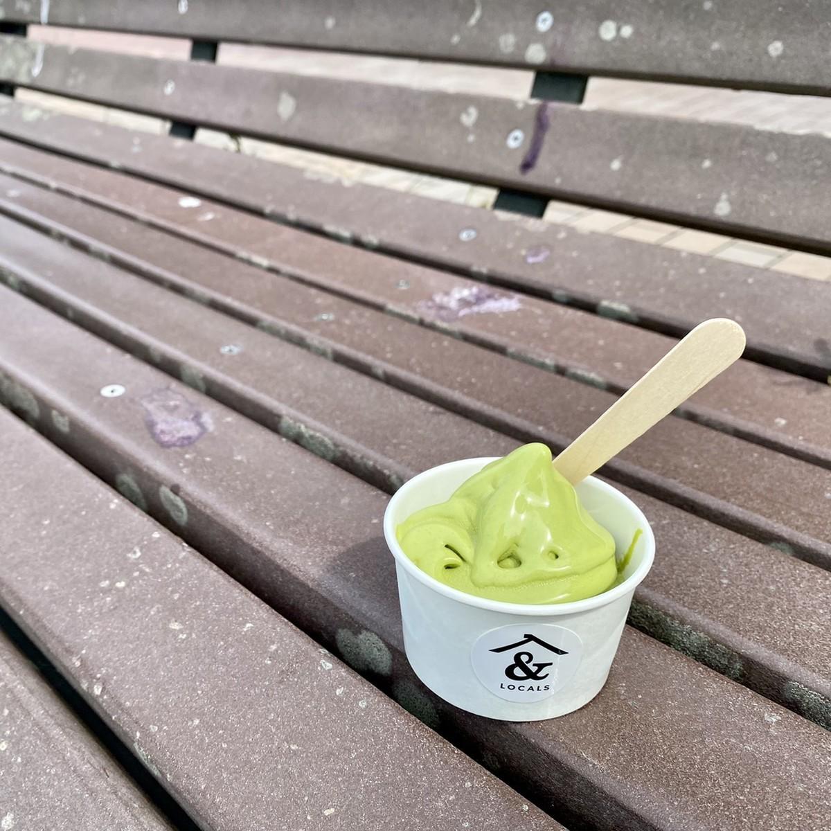 八女玉露ソフトクリーム