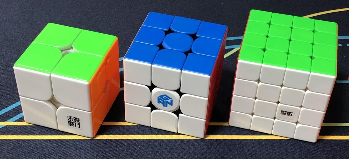 左から2x2x2, 3x3x3, 4x4x4