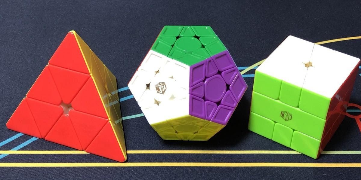 左からピラミンクス、メガミンクス、スクエア1