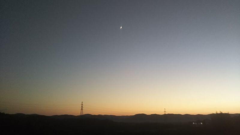 日没直後の風景