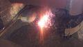 鍛冶屋の火床