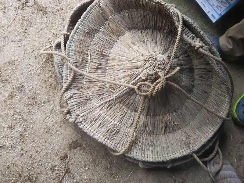 地面に置かれた【えんぼう】の束