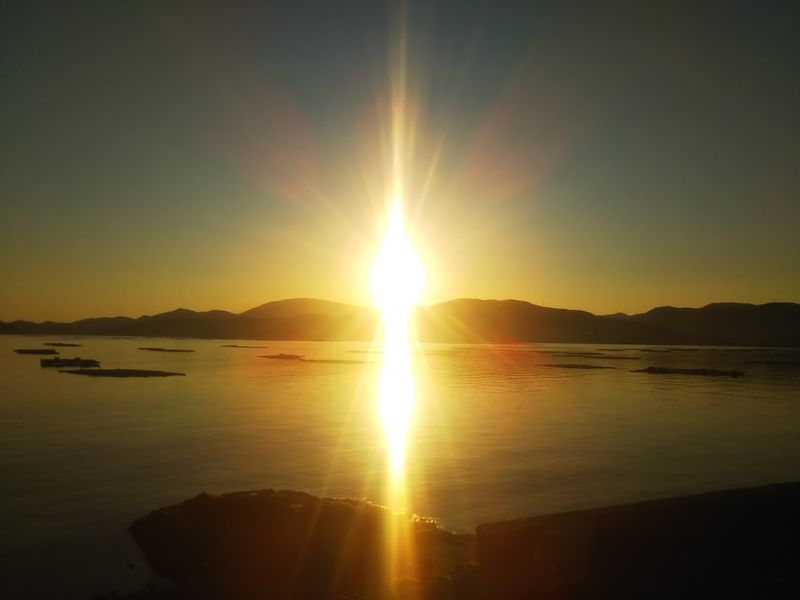 赤崎から見た瀬戸内海の夕日