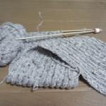 ツイード糸のマフラー