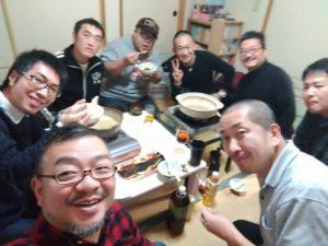 自宅で鍋パーティー