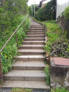 木曽福島駅からの上り