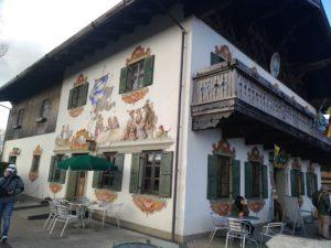 ドイツの家のフレスコ画