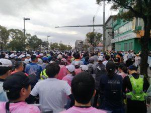 鹿児島マラソンスタート整列中