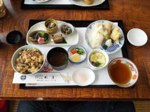 2017/01/16 松月の鶏天ぷら膳