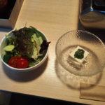2017/01/18 肉バルダールフルットのサラダと豆腐