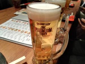 懇親会の生ビール