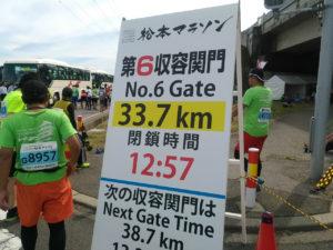 松本マラソン関門