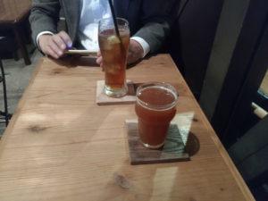 ビール(とジンジャーエール)