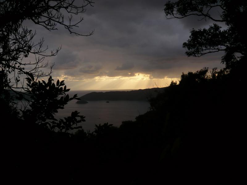 冬の雲間の光2