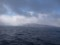冬の海から佐渡を見る