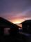 佐渡 牡蠣小屋越しの夕陽