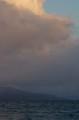 佐渡 冬至の朝/鷲崎方面を見た景色