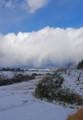 佐渡 雪景色に見えた青空