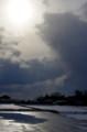 佐渡 冬の田圃風景