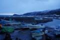 佐渡 両尾の小さな港と集落