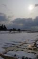 佐渡 雨水のあと/雪解けの田圃