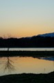 佐渡 加茂湖畔のトワイライト