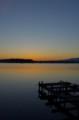 佐渡 加茂湖の夕暮れ