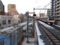 [鉄道][工事]中央線国立駅(3番線路盤構築中)