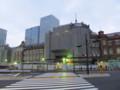 [鉄道][工事]復原工事が進む東京駅丸の内赤レンガ駅舎