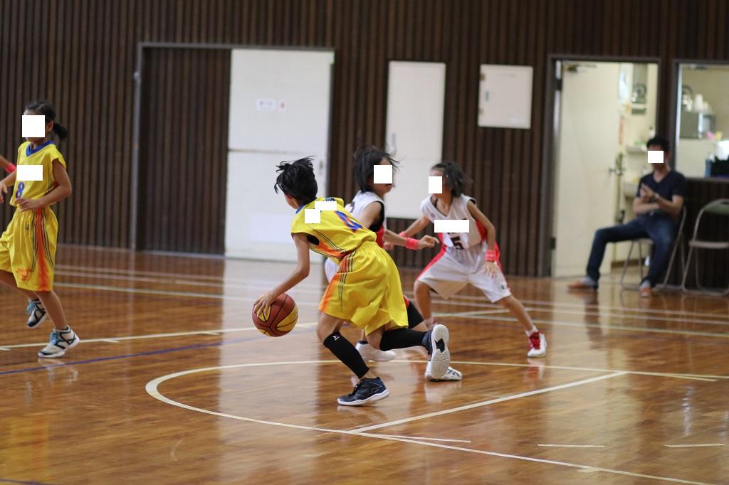 女子ミニバスケットボール写真