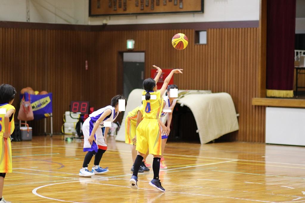 女子ミニバスケットボール写真フリースロー